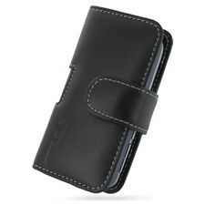 PDair Black Leather Horizontal Pouch for Palm Treo 800w