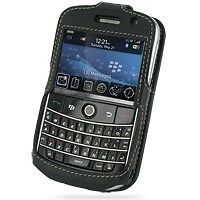 PDair Black Leather Sleeve-Style Case for BlackBerry Bold 9000