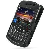 PDair Black Leather Sleeve-Style Case for BlackBerry Bold 9700