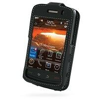 PDair Black Leather Sleeve-Style Case for BlackBerry Storm2 9520 / 9550