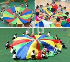 Kids Baby Children Rainbow Parachute 8-Handles Outdoor Game Exercise Sports Toys