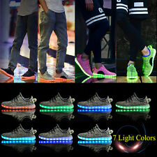 Fashion Adult LED Light Lace Up Luminous Casual Shoes Sportswear Couple Sneakers
