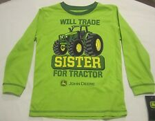 John Deere  Will Trade Sister for Tractor 100% Cotton T-Shirt NWT