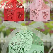 50Pcs Butteffly Heart Favor Ribbon Gift Box Candy Boxes Wedding Party Decor