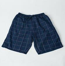 Men's Sleep Shorts 100% Cotton Knit beach Lounge Wear Causal Checkered Pajamas
