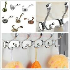 Stylish 1,3,4,5,6 Hooks Coat Hat Clothes Robe Holder Rack Hook Wall Hanger Door