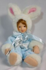 Porcelain Ceramic Baby Doll Bunny Rabbit Costume Small Mini Miniature Anco 1997