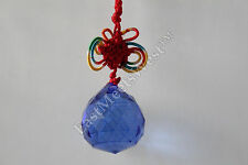 """FENG SHUI MYSTIC KNOT HANGING CRYSTAL BALL 1.3"""" Sphere Prism Faceted Sun Catcher"""