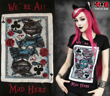 Restyle Alice in Wonderland Cheshire Cat Top Tshirt Gothic Emo Costume Goth Tee