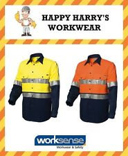 Worksense Hi-Vis Taped Cotton Drill Long Sleeve Shirt WS9186441 NEW WITH TAGS!