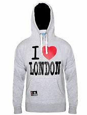 Mens I Love London Hoodie Sweatshirt Casual Workwear Fleece Hooded Top Medium