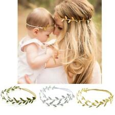 Mommy and Me Leaf Headband Olive Branch Baby Girls Hairband Headwear Photo Props