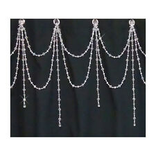 Beaded Shower Curtain Bling Double Swag with Short Alt Strands  Custom order