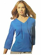 New Crivit Ladies Casual / Active wear hooded T-Shirt / Top Blouse Long Sleeve
