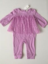 Baby Gap Purple Double layer tulle one-piece Romper Baby Girls size 6 9 12 18 24