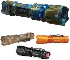 Rechargeable Flashlight Torch Ultra Bright Adjustable Brightness Tactical Focus