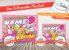 Shopkins ~ Birthday Card~Daughter~Sister~Son~Brother~Any~FREE DELIVERY