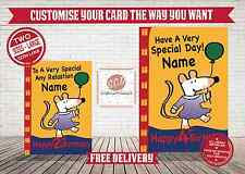 Maisy Mouse ~ BIRTHDAY CARD ~ SAME DISPATCH ~ FREE DELIVERY~SIZES L & XL