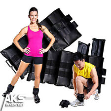 Adjustable Ankle Weights Set of 2 10lb Each Pair Leg Arm Wrist Box Running Sport