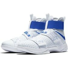 Nike Lebron Soldier 10 Mens Size Basketball Shoes White Cobalt Blue 844374 164