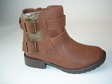 $59 Candies Girls Strappy Sweater Ankle Boots, Girls Size 2  Cognac NIB
