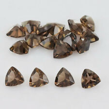 4mm to 12mm NATURAL SMOKY QUARTZ TRILLION CUT LOOSE GEMSTONE WHOLESALE LOT