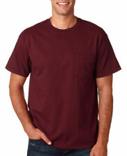 Gildan Men's Double Needle Left Chest Pocket Taped Neck Shoulders T-Shirt. G2300