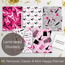 Paris - Laminated Planner Dividers - Happy Planner, Filofax A5 Personal