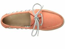 Sperry Top-Sider Women (STS95546) A/O Haven Boat Shoes Leather Coral Size 8.5