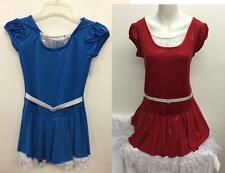 Dance Costume Child Adult Sizes Blue Red Sparkle Dress Group Competition Pageant
