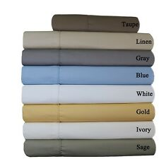 "Standard Pillow-Cases 22"" Deep Pockets Wrinkle-Free 650TC Solid Cotton  20x30"""