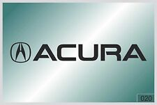 ACURA LOGO - sticker on car - HIGH QUALITY - different colors - №0020