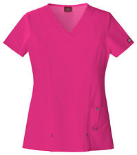 Scrubs Dickies Xtreme Stretch V- Neck Top 82851 Hot Pink  WE SHIP FREE