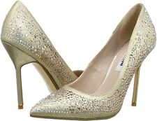 RRP £99 BNWB DUNE SIZE 7 40 GOLD DIAMANTE BEAUTIE SPECIAL OCCASION COURT SHOES