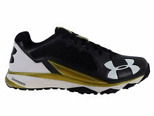 NEW MENS UNDER ARMOUR DECEPTION TRAINER RUNNING SHOES TRAINERS BLACK / METALLIC
