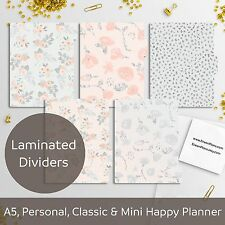 Delicate Spring - Laminated Planner Dividers Happy Planner, Filofax A5 Personal