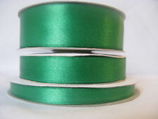Emerald green double sided satin ribbon 3 10 16 25mm crafts cards wedding sewing