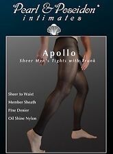 Apollo - Mens Sheer Tights with Trunk for male anatomy sexy nylons pantyhose