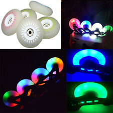 LED Inline Wheels Skate PU Rollerblade Light Up Wheels 72/76/80mm,90A,4-pack