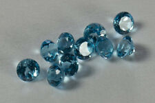 Natural Sky Blue Topaz Round Faceted Cut 1mm to 6mm Top Quality Loose Gemstone