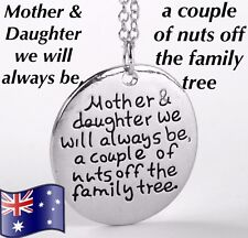 MOTHER DAUGHTER Family Tree Pendant Necklace Mum Gift 925 Sterling Silver Chain