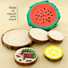 2pcs Natural Wood DIY Blank Hand-painted Wood Wafer for Kids Painting Crafts