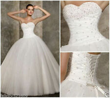 Hot White/ivory Sweetheart Ball Bridal Gown Wedding Dress Size6 8 10 12 14 16 1