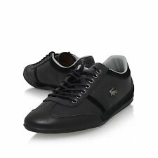 Lacoste Sneakers Shoes Men Leather S Fashion Lace Up Casual 1 Mens Espere Black