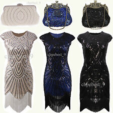 1920s Flapper Dress Great Gatsby Party Dresses Cocktail Dress UK Plus Size 2-20