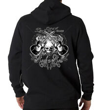 Live The Dream Rock & Roll Music Guitar Skull Hooded Sweatshirt Hoodie