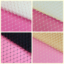 "1 yard 9"" Birdcage Veiling Fabric French Russian Netting Fascinator U pick color"