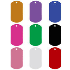 20pcs Aluminum Custom Military Dog Tags for Pets Personalized Engraved Pet Tag