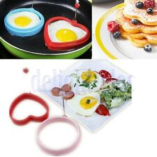 Silicone Omelette Pancake Poach Mould Ring Fried Egg Shaper Cooking Kitchen DG