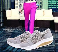 Ladies Fitness Sport Trainers Shoes Girls Shape Step Up Toning Gym Walking Shoes